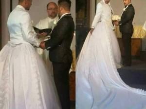 matrimonio gai con abito da sposa 1